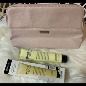 NEW Philosophy Pore Extractor and Makeup Bag